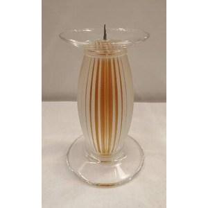 Candeliere Dampierre ocra H. cm. 10
