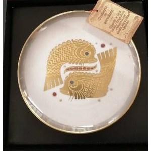 Piatto gioiello segno zodiacale Pesci
