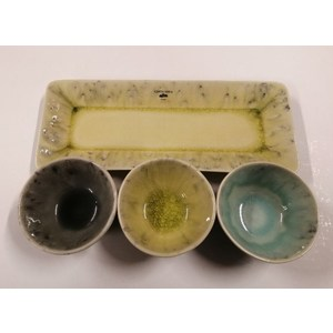 Set appetizer 4 pezzi vassoio lime piccolo MADEIRA