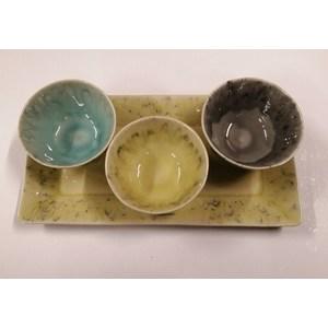 Set appetizer 4 pezzi vassoio lime medio MADEIRA