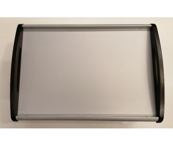 Vassoio letto metallo con maniglie wengè Speedy