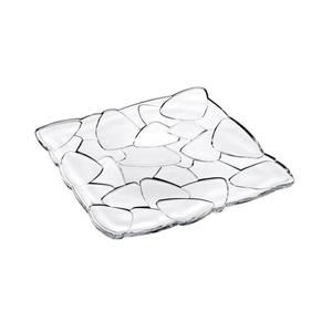Piatto quadrato Petals cm. 28