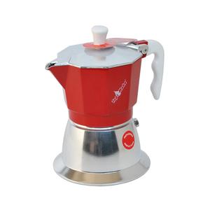 Caffettiera Top Moka 3 tazze rossa induzione