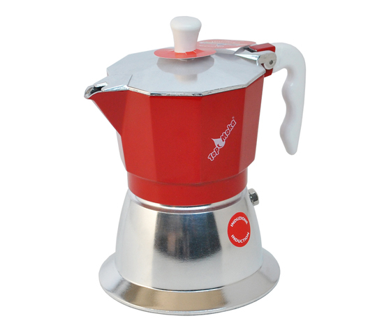 Caffettiera Top Moka 6 tazze rossa induzione