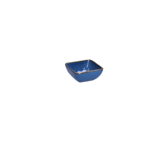 Ciotolina quadrata Concerto blu avio 8x8 cm