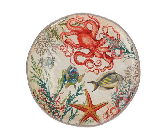 Vassoio rotondo Sea Life cm. 42