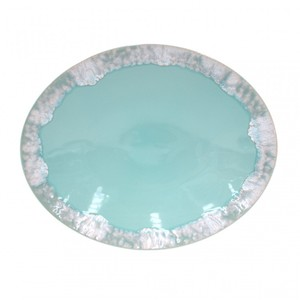 Piatto ovale Taormina aqua 41 cm