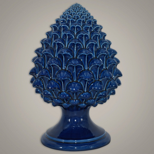 Pigna di Caltagirone blu integrale cm. 25