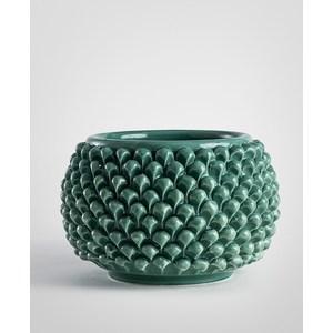 Vaso pigna verde ramina 25 cm.