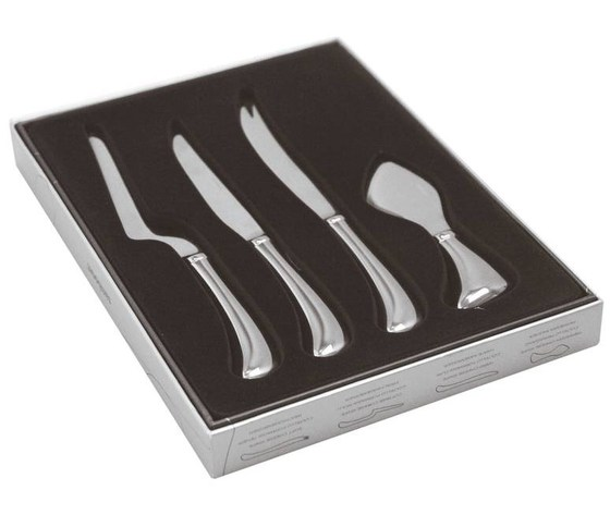 Set 4 coltelli formaggio Cheese Living acciaio inox