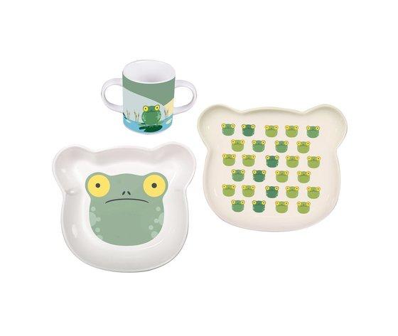 Set 3 porcellane bambino Froggy