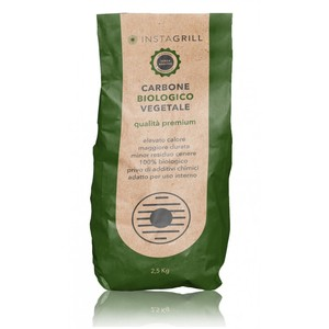Carbone per instagrill vegetale di alta qualità - 2,5 Kg