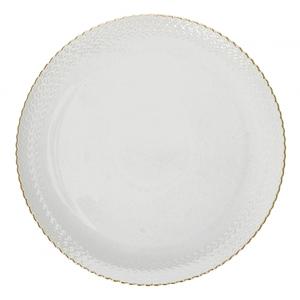 Piatto torta Momenti oro cm.34