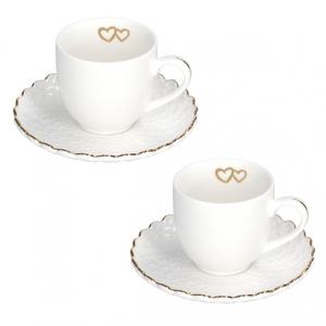 Set 2 tazze caffè c/p. Momenti oro cc.85