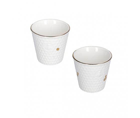 Set 2 bicchierini caffè Aperegina oro