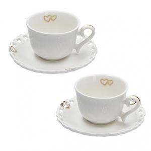 Set 2 tazze caffè c/p. Valentino oro