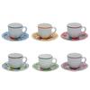 6 tazze caff%c3%a8 con piattino colori assortiti r1331015mx