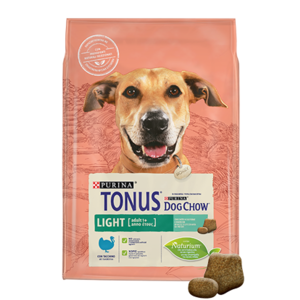 Purina TONUS DOG CHOW Cane Adult Light Con Tacchino crocchette 2500g