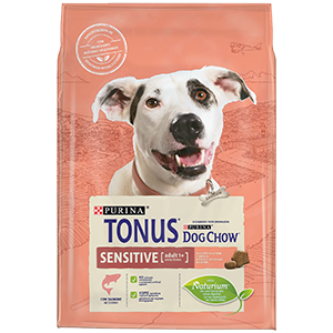 Purina TONUS DOG CHOW Cane Adult Sensitive Con Salmone crocchette 2500g