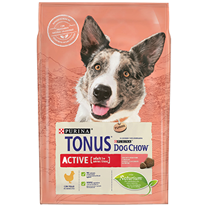 Purina TONUS DOG CHOW Cane Adult Active Con Pollo crocchette 2500g