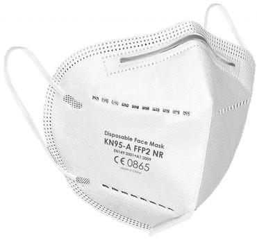 Mascherina ffp2 con filtro protezione batteri e polvere