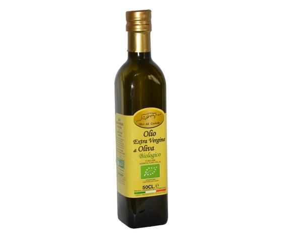 Olio Extravergine di Oliva da Agricoltura Biologica in bottiglia da 0,5 L