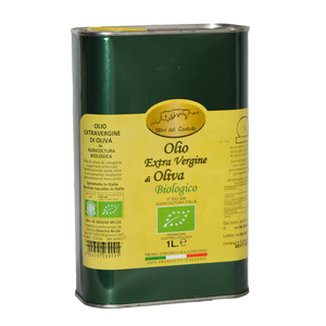 Olio Extravergine di Oliva da Agricoltura Biologica in latta da 1 L
