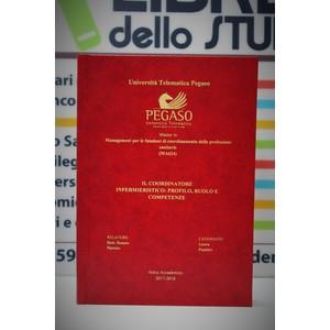 Rilegatura Tesi di Laurea Hard style red stampa oro/argento