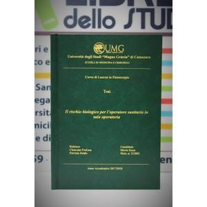 Rilegatura Tesi di Laurea Hard style verde stampa oro/argento