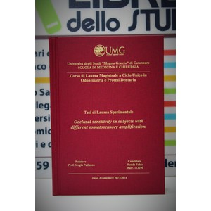 Rilegatura Tesi di Laurea Hard Europa bordowy stampa oro/argento