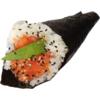 T98.tema spicy salmone salmone tritato piccante tobiko insalata e mayo 1pz