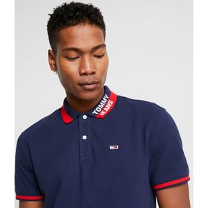 TOMMY JEANS BRANDED COLLAR POLO B