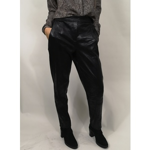 PANTALONE CHINO IN ECOPELLE EFFETTO VINTAGE