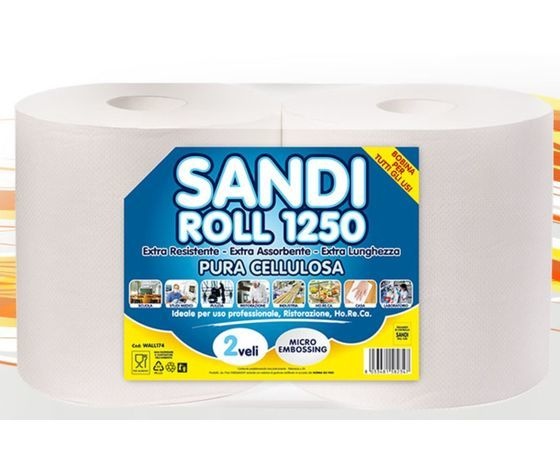 Sandi roll 1250 bobina carta pap02