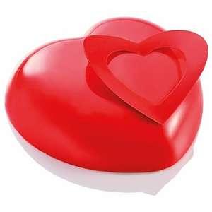 Kit per semifreddo cuore diametro cm 19,1 imballo: stampo termoformato+base inox+inserto inox