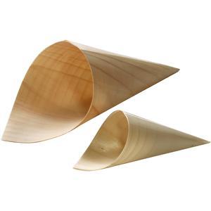 Coni alteza cm 14,5 in legno  - imballo 100 pezzi