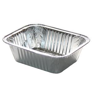 Vaschette alluminio formato 4^porzioni - imballo 100 pezzi