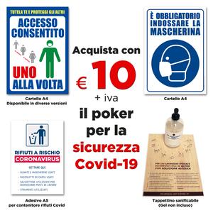 COVID-19 POKER SEGNALETICA SICUREZZA