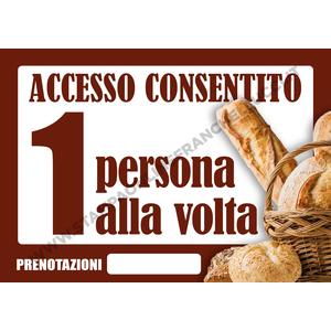 COVID-19 SEGNALETICA ACCESSO PANIFICIO - FORNO UNO ALLA VOLTA