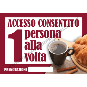 COVID-19 SEGNALETICA ACCESSO BAR UNO ALLA VOLTA