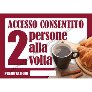COVID-19 SEGNALETICA ACCESSO BAR DUE ALLA VOLTA