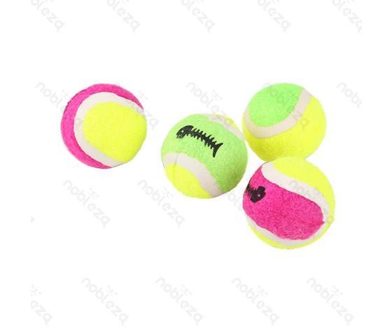 Set palline da tennis per animali (4x)
