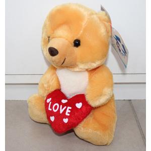 Peluche orso con cuore 20cm