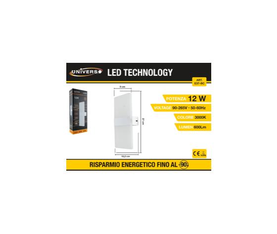 Applique a Led con luce superiore e inferiore (3000k)