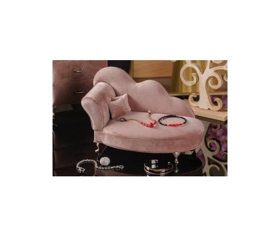 Porta gioie vellutato a forma di divano