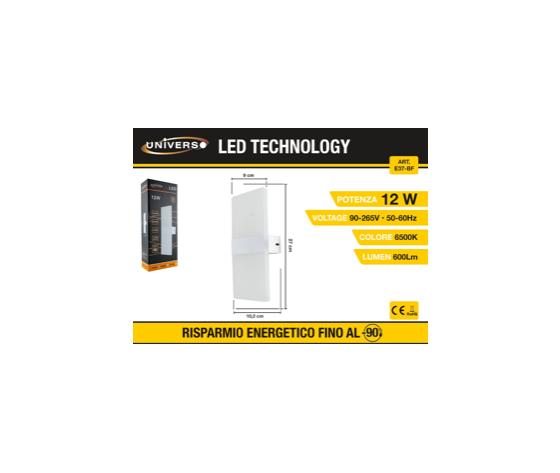 Applique a Led con luce superiore e inferiore (6500k)