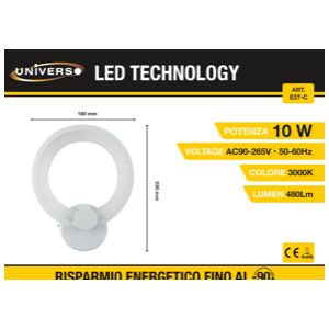 Applique Led a forma di cerchio (3000k)
