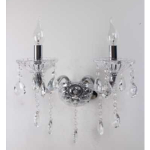 Applique color argento con doppia luce