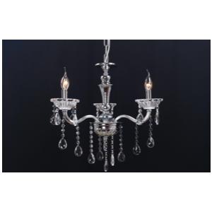 Lampadario a 3 luci color argento