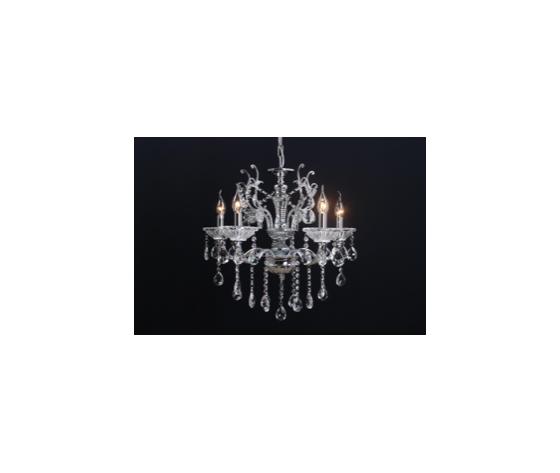 Lampadario a 5 luci argento